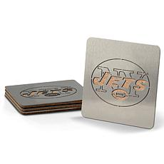 Officially Licensed NFL Boasters 4-piece Coaster Set - New York Jets