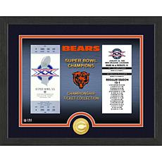 Officially Licensed NFL Bronze Coin Ticket Photo Mint - Chicago Bears