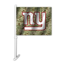 Officially Licensed NFL Camo Car Flag - Giants