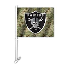 Officially Licensed NFL Camo Car Flag - Raiders