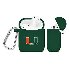 Officially Licensed NFL Case for AirPod Case- Miami Hurricanes - Green