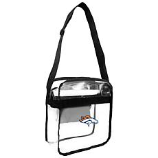 Officially Licensed NFL Clear Carryall Crossbody - Broncos