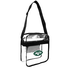 Officially Licensed NFL Clear Carryall Crossbody - Jets