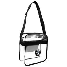 Officially Licensed NFL Clear Carryall Crossbody - Raiders