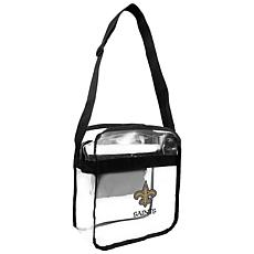 Officially Licensed NFL Clear Carryall Crossbody - Saints