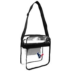 Officially Licensed NFL Clear Carryall Crossbody - Texans