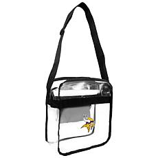 Officially Licensed NFL Clear Carryall Crossbody - Vikings