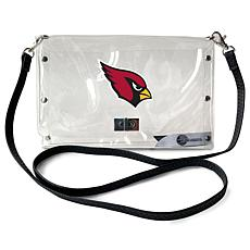 Officially Licensed NFL Clear Envelope Purse - Cardinals