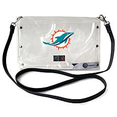 Officially Licensed NFL Clear Envelope Purse - Dolphins