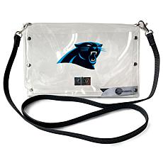 Officially Licensed NFL Clear Envelope Purse - Panthers