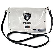 Officially Licensed NFL Clear Envelope Purse - Raiders