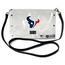 Officially Licensed NFL Clear Envelope Purse - Texans