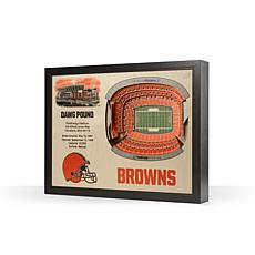 Officially Licensed NFL Cleveland Browns StadiumView 3D Wall Art
