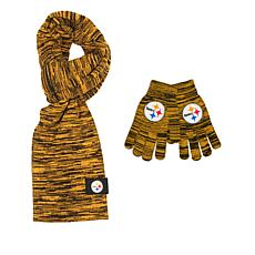 Officially Licensed NFL Colorblend Scarf and Glove Set by Team Beans