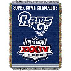 Officially Licensed NFL Commemorative Series Woven Tapestry Throw-R...