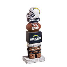 Officially Licensed NFL Decorative Tiki Totem - Chargers