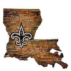 Officially Licensed NFL Distressed State Map