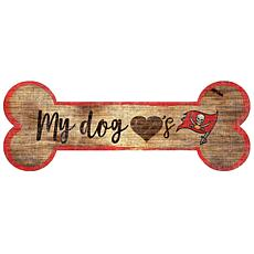 Officially Licensed NFL Dog Bone Wall Art