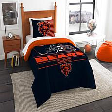 Officially Licensed NFL Draft Twin Comforter Set - Bears