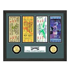 Officially Licensed NFL Eagles World Champion Ticket & Coin Collection