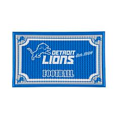 Officially Licensed NFL Embossed Door Mat - Lions
