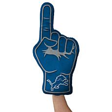 Officially Licensed NFL Foam Finger Plush Pillow - Detroit Lions