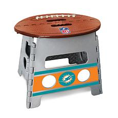 Officially Licensed NFL Folding Step Stool - Miami Dolphins
