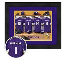 Officially Licensed NFL Framed Locker Room Print