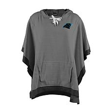 12a881e4 Officially Licensed NFL Heathered Hoodie Poncho - Carolina Panthers