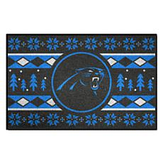 11fad1fa Officially Licensed NFL Holiday Sweater Starter Mat- Carolina Panthers
