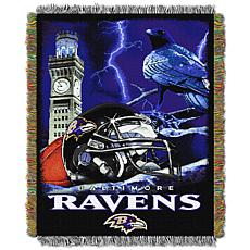 Officially Licensed NFL Home Field Advantage Throw Blanket - Ravens