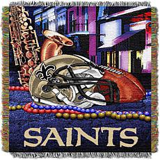 Officially Licensed NFL Home Field Advantage Throw Blanket - Saints