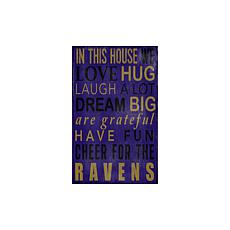 Officially Licensed NFL In This House Sign - Baltimore Ravens