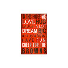 Officially Licensed NFL In This House Sign - Cleveland Browns