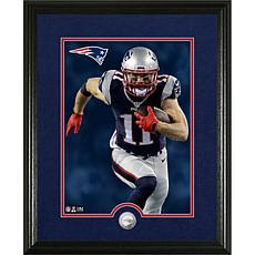 Officially Licensed NFL Julian Edelman Silver Coin Canvas Photo Mint