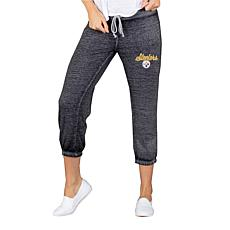 Officially Licensed NFL Knit Capri Pant by Concept Sports - Steelers