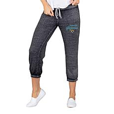 Officially Licensed NFL Knit Capri Pant by Concept Sports - Jaguars