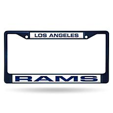 Officially Licensed NFL Laser-Cut Chrome License Plate Frame -  Rams