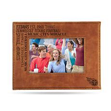 Officially Licensed NFL Laser Engraved Brown Picture Frame - Tennessee