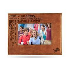 Officially Licensed NFL Laser Engraved Brown Picture Frame - Lions