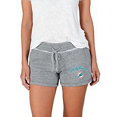 Officially Licensed NFL Mainstream Ladies Knit Shorts - Dolphins