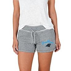 Officially Licensed NFL Mainstream Ladies Knit Shorts - Panthers