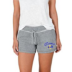 Officially Licensed NFL Mainstream Ladies Knit Shorts - Rams