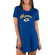 Officially Licensed NFL Marathon Nightshirt by Concept Sports - Rams