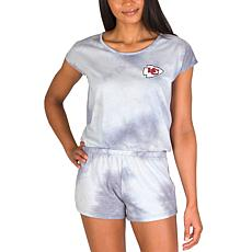 Officially Licensed NFL Marina Ladies Knit SS Romper - Chiefs