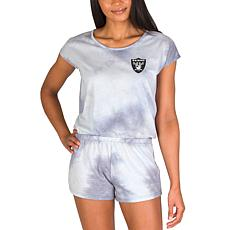 Officially Licensed NFL Marina Ladies Knit SS Romper - Raiders