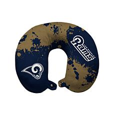 Officially Licensed NFL Memory Foam Travel Pillow - LA Rams