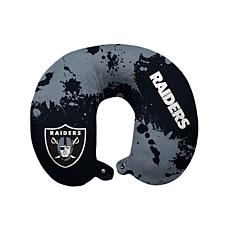 Officially Licensed NFL Memory Foam Travel Pillow - Oakland Raiders