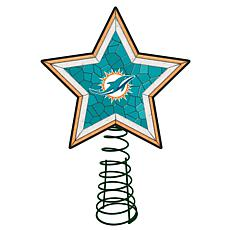 Officially Licensed NFL Mosaic Tree Topper - Dolphins