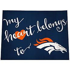"Officially Licensed NFL ""My Heart Belongs to"" Distressed Sign"